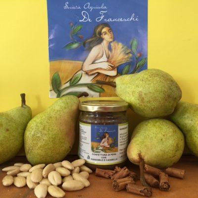 Confettura di pera con mandorle e cannella