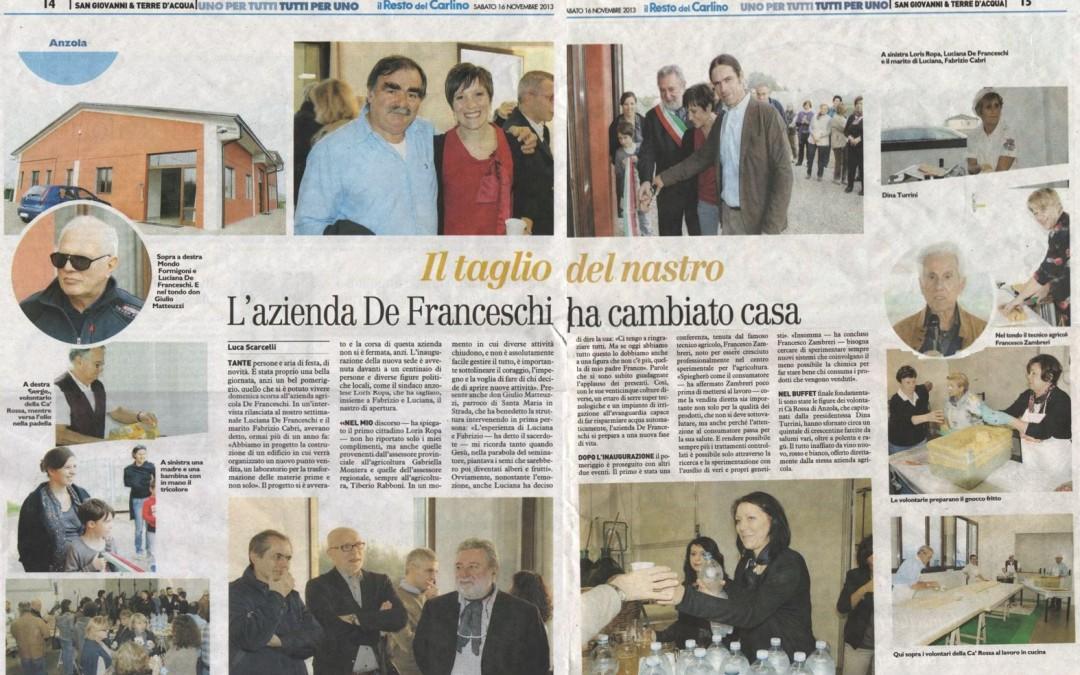 De Franceschi: cambio casa